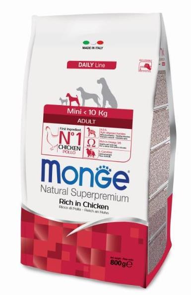 Монже Корм сухой для взрослых собак мелких пород Dog Mini, в ассортименте, Monge