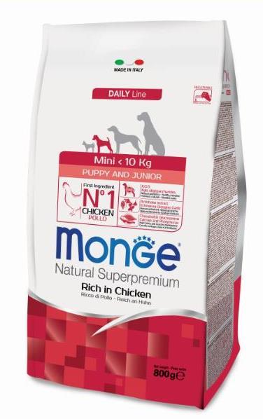 Монже Корм сухой для щенков мелких пород Dog Mini, в ассортименте, Monge