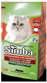 Корм Симба сухой для взрослых кошек, Говядина, 2 кг, Monge
