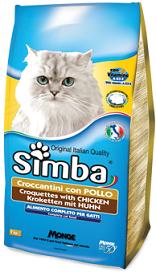 Корм Симба сухой для взрослых кошек, Курица, 2 кг, Monge