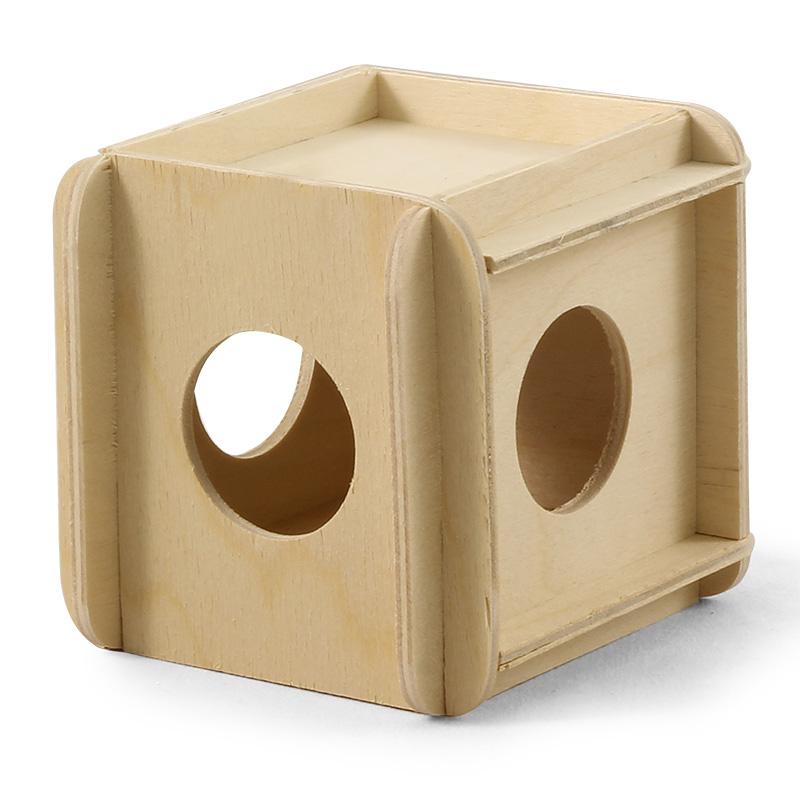 Игрушка-кубик деревянный для грызунов, в ассортименте, Россия