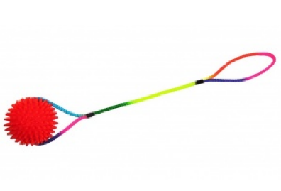 V.I.Pet Мяч массажный на шнуре длиной 50 см с петлей, 6 размеров, ПВХ, PetLine