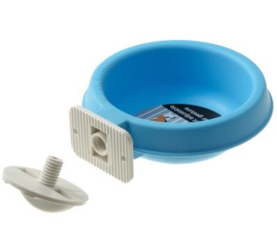 V.I.Pet Миска пластиковая с универсальным крепежом (система антисброс), 300 мл, 12,5*5 см, в ассортименте, PetLine