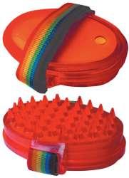 V.I.Pet Щетка резиновая на руку для мытья и массажа, с емкостью для шампуня, PetLine