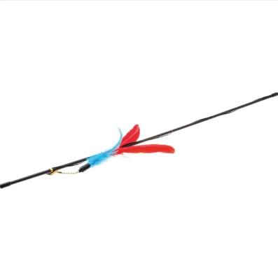 V.I.Pet Удочка-дразнилка большая с гусиными перьями, длина палочки 72 см, PetLine