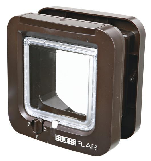 Трикси Дверца SureFlap, программируется на чипы или бирку, 21*21,5 см, пластик, в ассортименте, Trixie