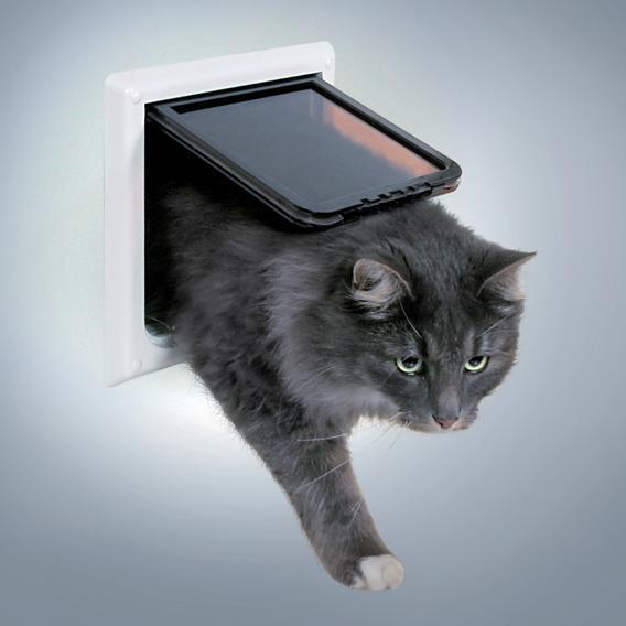 Трикси Дверца для кошек и собак электромагнитная, с магнитным брелком на ошейнике, размер 21,1*24 см, пластик, Trixie