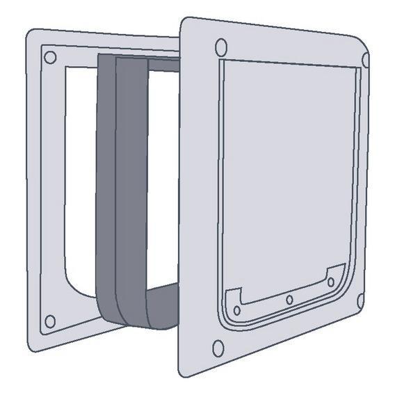 Трикси Дополнительный элемент (тоннель) для дверцы 3877, белый, Trixie