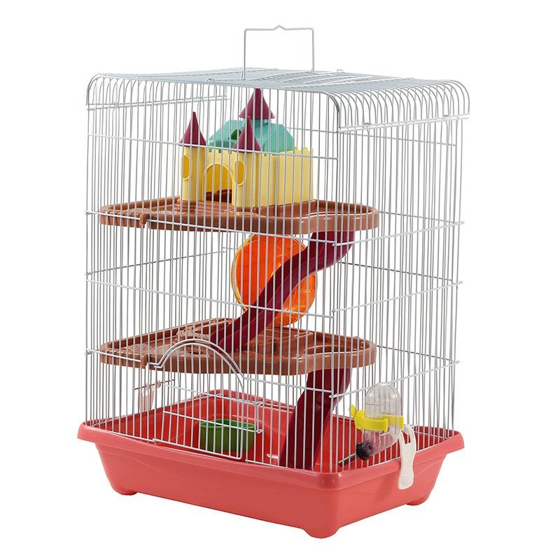 Триол Клетка трехэтажная для мелких грызунов 36*26*46 см, цвета в ассортименте, Triol