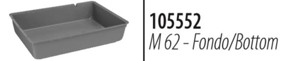 Ферпласт Пластиковый поддон M 62 светло голубой для клеток-террариумов Mini Duna Multi, Duna Fun, Mini Duna Hamster, Ferplast