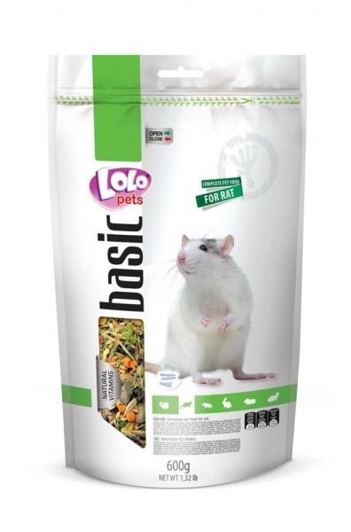 ЛолоПетс Корм для декоративных крыс полнорационный, 600 г, LoloPets