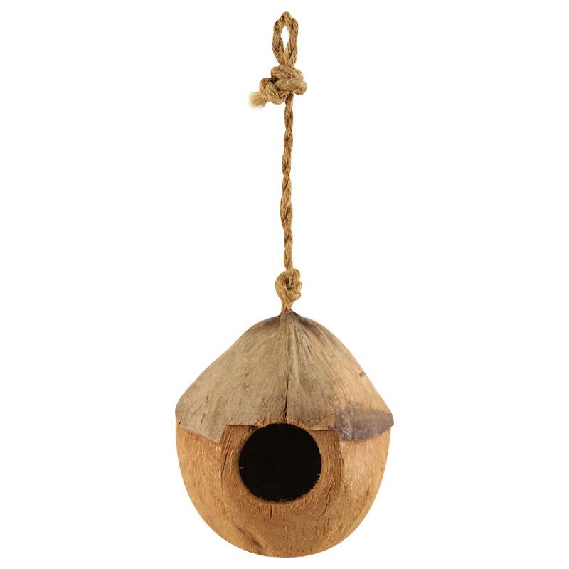 Триол Домик для птиц из натурального кокоса, 13*30 см, Triol