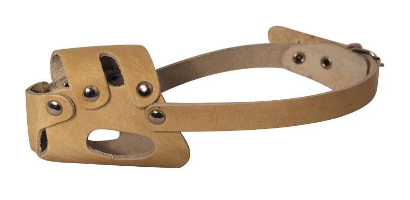 Гамма Намордник кожаный для щенков, 34 см, с регулируемой длиной ремешка, Gamma
