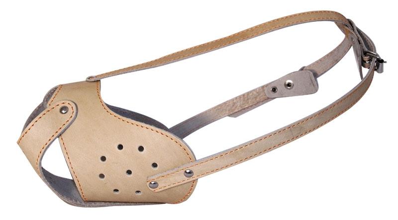 """Гамма Намордник кожаный """"Буль"""", 42 см, с регулируемой длиной ремешка, Gamma"""