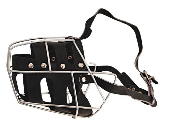 Гамма Намордник металлический №4 с кожаным вкладышем, 46 см, с регулировкой длины, Gamma