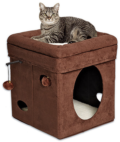 Мидвест Домик для кошки Currious Cat Cube (Куб любознательной кошки), 38*38*42 см, MidWest