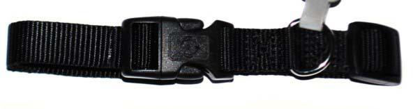 Хантер Ошейник для собак Ecco черный, нейлон, 2 размера, Hunter