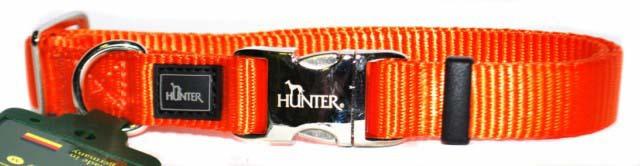 Хантер Ошейник для собак с металлической застежкой ALU-Strong оранжевый, нейлон, 3 размера, Hunter