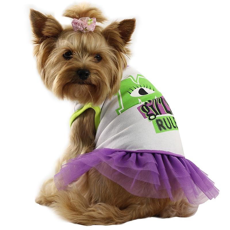Триол-Дисней Футболка с юбкой Monsters для собак, L,  обхват груди 48 см, длина спины 33 см, обхват шеи 34 см, Triol-Disney