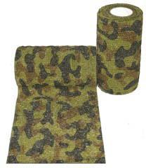 Андовер Бандаж (бинт) с латексом Andover PetFlex PR для животных, 10 см * 4,5 м, зеленый камуфляж, Andover