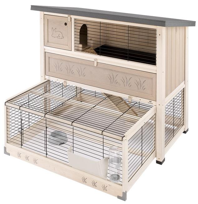 Ферпласт Деревянная клетка Ranch 120 Max для содержания кроликов и морских свинок на улице, 117*69*107 см, Ferplast