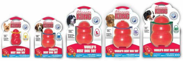 Конг Игрушка Классик для средних и крупных пород собак, 14 см, резина, Kong