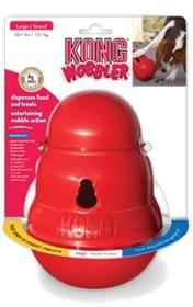Конг Интерактивная игрушка Wobbler (Воблер) для лакомств, пластик, в ассортименте, Kong