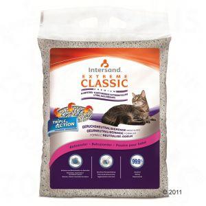 Екстреме Класик Наполнитель для кошек ароматизированный комкующийся (розовая полоса) Baby Powder Scented, в ассортименте, Extreme Classic