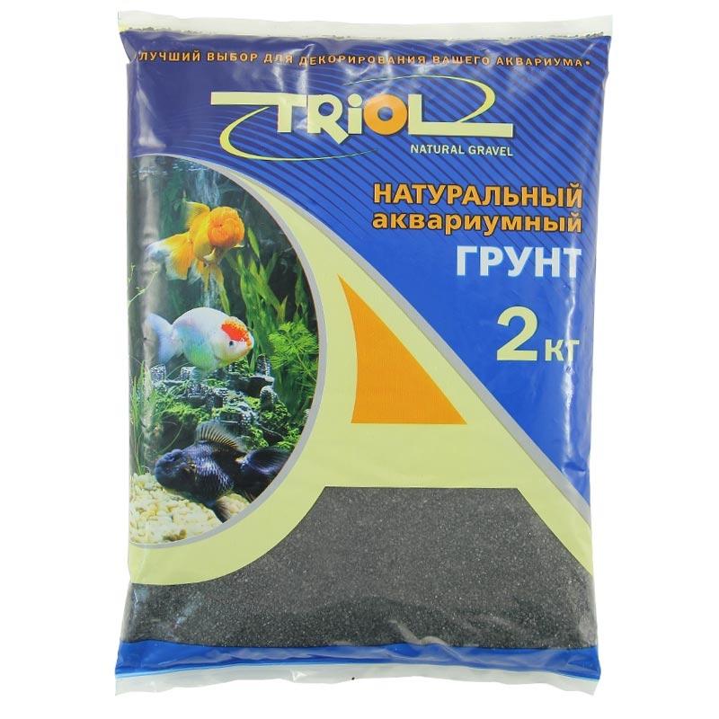 Триол Грунт натуральный крошка черная 2-4 мм, 2 кг, Triol