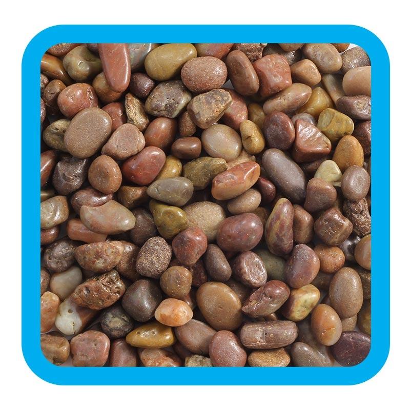 Триол Грунт Laguna натуральный речная галька коричневый меланж, 2 кг, фракция 0,5-1 см, Triol