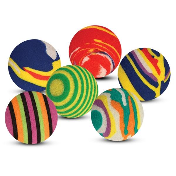 Триол Набор игрушек 4 цветных шарика для кошек, диаметр 3,5 см, Triol