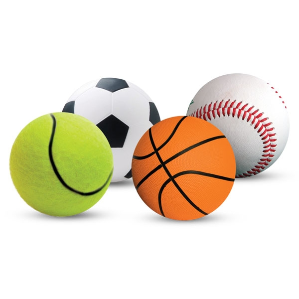 Триол Набор игрушек 4 спортивных мяча для кошек, диаметр 4,5 см, Triol