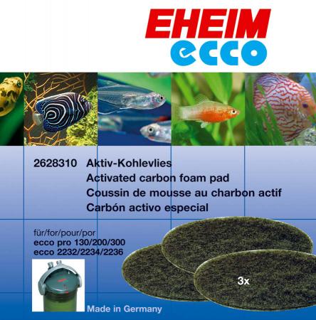 Эхейм Комплект из трех угольных губок для внешних фильтров Ecco Pro (EccoPro), 3 шт./уп., Eheim