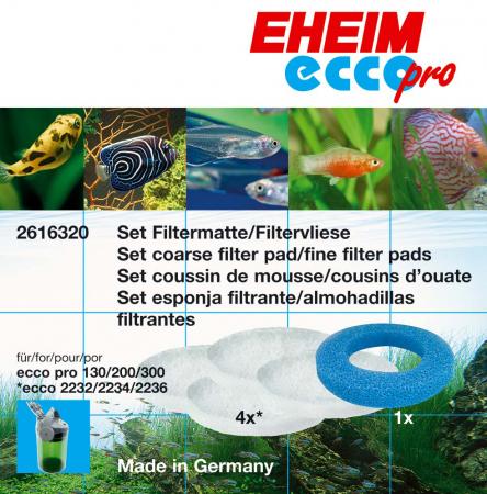 Эхейм Набор фильтрующих материалов для внешних фильтров Ecco Pro (EccoPro), 5 шт./уп., Eheim