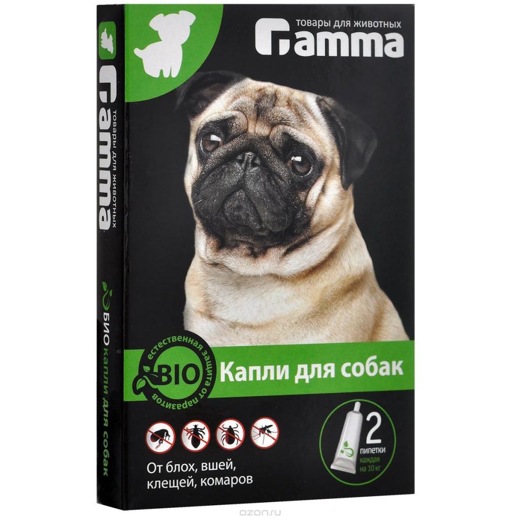 """БиоКапли для собак """"Гамма"""" от блох, клещей, власоедов, комаров, 2 пипетки по 1 мл"""