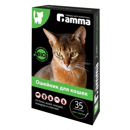 БИО Ошейник для кошек Гамма от блох, клещей, власоедов, комаров, 35 см