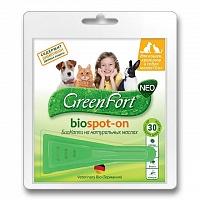 Грин Форт БиоКапли от блох, вшей, власоедов, комаров, мух, иксодовых клещей, в ассортименте, Green Fort