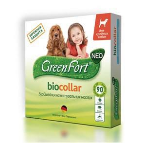 Грин Форт NEO БиоОшейник от блох, вшей, власоедов, комаров, иксодовых клещей для кошек и собак, в ассортименте, Green Fort