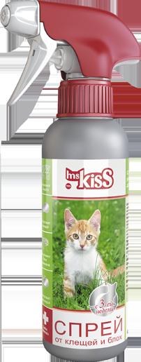 Миссис Кисс Спрей антипаразитарный реппелентный от блох и клещей для кошек, 200 мл, Ms.Kiss
