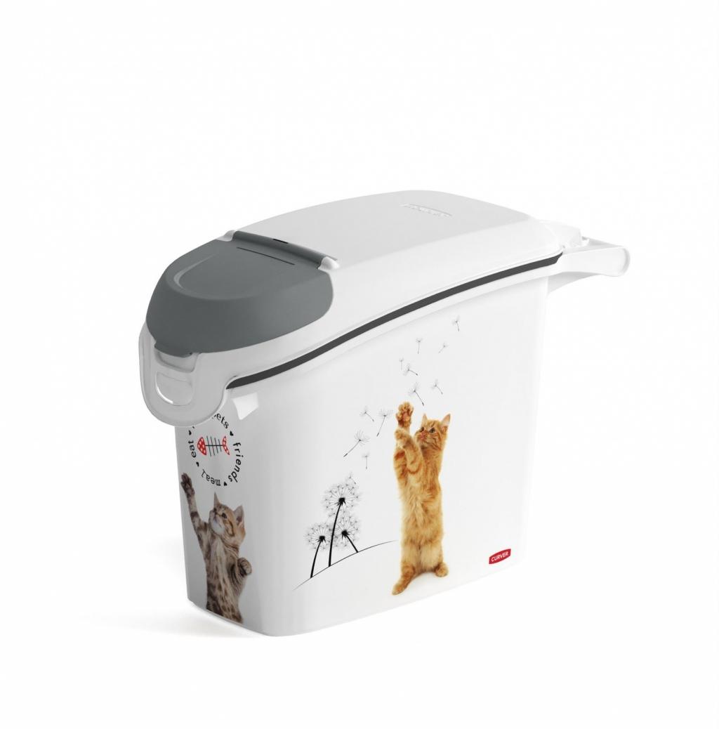 Корвер Контейнер для хранения 6 кг сухого корма Сладкие котята, объем 15 л, 23*50*36 см, 241105, Curver
