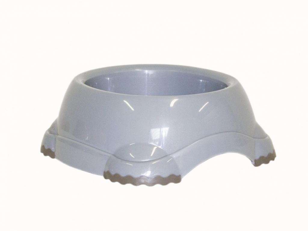 Модерна Продукт Миска пластиковая для кошек и собак Smarty, серая, 5 объемов, Moderna Products