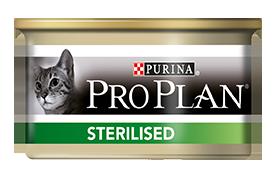 Консервы Пурина Про План для стерилизованных кошек Sterilised с тунцом и лососем, 24*85 г, Purina Pro Plan
