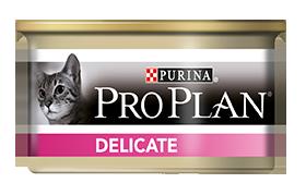 Консервы Пурина Про План для кошек с чувствительной системой пищеварения Delicate, Индейка, 24*85 г, Purina Pro Plan