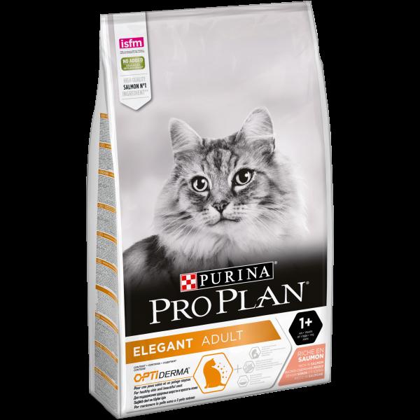 Корм Пурина Про План сухой Cat Элегант для кошек, поддержание красоты шерсти и здоровья кожи, Лосось, в ассортименте, Purina Pro Plan