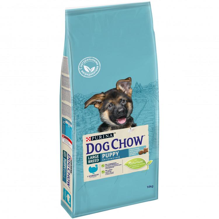 Корм Дог Чау Puppy Large Breed сухой для щенков крупных пород, Индейка, в ассортименте, Dog Chow