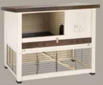 Ферпласт Деревянная клетка Ranch 120 Basic для кроликов и морских свинок, 117*57,5*95,5 см, в ассортименте, Ferplast