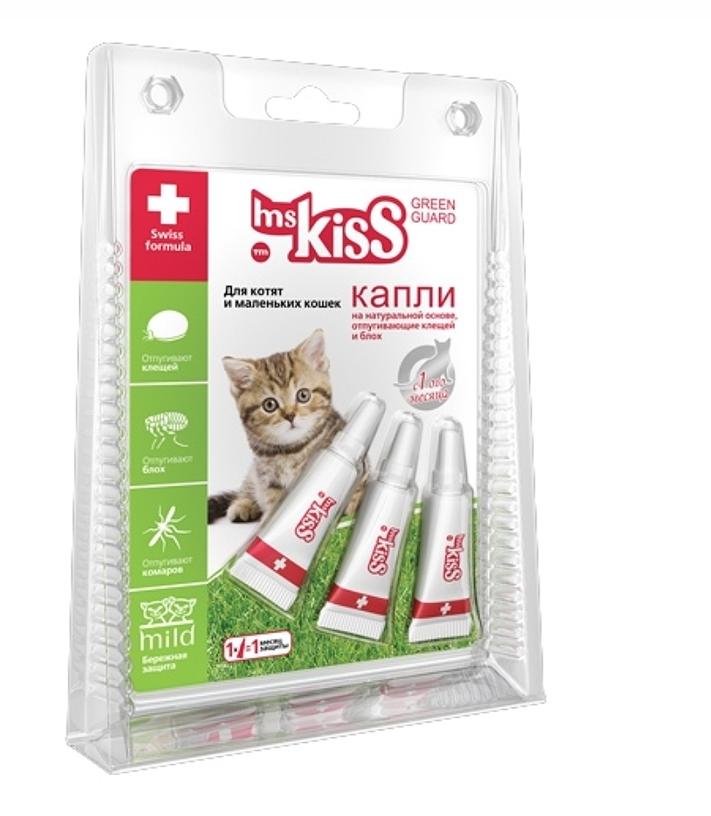 Мисс Кисс Капли репеллентные для кошек и котят, в ассортименте, Ms.Kiss