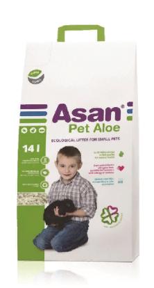 Асан Наполнитель бумажный Pet для мелких животных, рептилий и птиц, в ассортименте, Asan