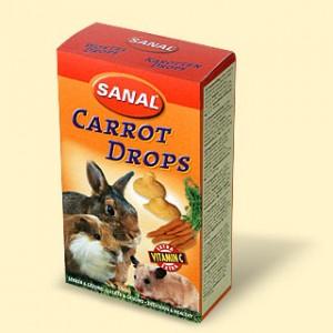 Санал Дропсы для грызунов Sanal Drops, с витаминами, в ассортименте, 45 г, Sanal