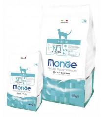 Монже Корм сухой для кошек, выведение шерсти, Cat Hairball, Курица, в ассортименте, Monge